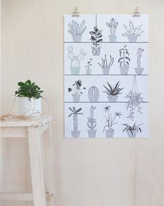 Urban Jungle Bloggers: Plants & Art by @chatdomestique