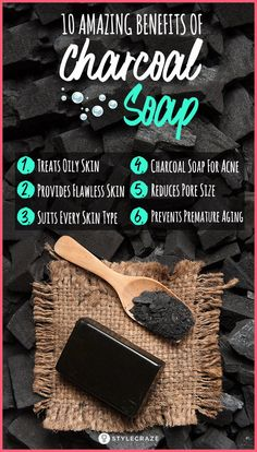 Top 10 Activated Charcoal Soap Benefits And Uses Have you heard about the unusual combination of charcoal and soap? If no, then this post about activated charcoal soap will surely excite you. Read on here! Charcoal Soap Benefits, Charcoal Soap For Acne, Body Shop At Home, The Body Shop, Activated Charcoal Benefits, Homemade Soap Recipes, Home Made Soap, Aloe Vera, Creative