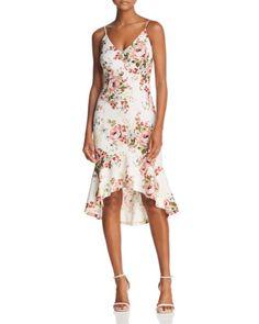 20397f94839 AQUA Floral Print Flounce Dress - 100% Exclusive