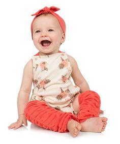 juDanzy Cream Floral Romper Set - Infant | zulily