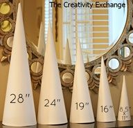 """Never buy another craft cone again!! Cyndy created a template for 5 sizes of craft cones that are used to make sturdy cones out of rolled poster board. These cones are just as durable as the paper mache (because they are rolled twice)."""" data-componentType=""""MODAL_PIN"""