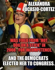 Many opponents of congresswoman Alexandria Ocasio-Cortez have decided to focus on fictitious criticisms. Liberal Hypocrisy, Liberal Logic, Politicians, Stupid People, We The People, Funny Memes, Hilarious, Political Memes, Conservative Politics