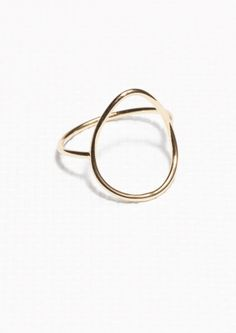 & Other Stories | Thin Droplet Ring | Gold