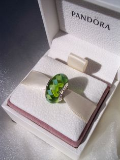 Authentic Pandora Charm Green ZigZag Retired S925 by JEWELSELAGANT, $25.00