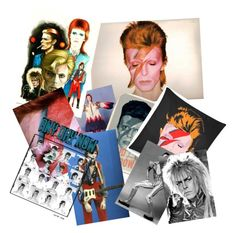 """David Bowie"" by khama ❤ liked on Polyvore featuring art and davidbowie"