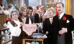 Are You Being Served?  This British show was super funny.  I used to stay up late with my dad and watch the reruns.