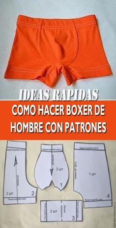 Mens Innerwear, Clothing Patterns, Sewing Patterns, Fashion Sewing, Mens Fashion, Sewing Techniques, Underwear, Salvia, Shorts