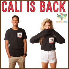 Cali is Back Serengetee California Bear Flag T Shirt | Bear Flag Museum