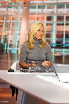 Lisa Gersh, chief executive officer of Goop, speaks during a Bloomberg Television interview in New York, U.S., on Thursday, Nov. 12, 2015. Gersh discussed the business and performance of Goop and the building of a celebrity brand. Photographer: Chris Goodney/Bloomberg via Getty Images