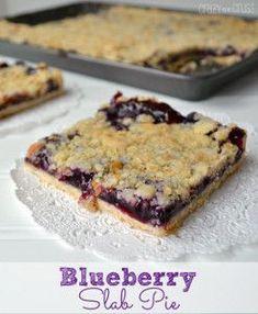 July is National Blueberry Month! This Blueberry Slab Pie can feed a crowd! http://www.allfreecasserolerecipes.com/Dessert-Casserole-Recipes/Blueberry-Slab-Pie?utm_content=bufferd4145&utm_medium=social&utm_source=pinterest.com&utm_campaign=buffer#Ct2XQLAU4xp5pJwp.32