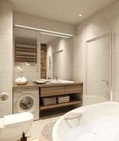 Laundry Room Bathroom, Narrow Bathroom, Laundry Room Design, Bathroom Toilets, Bathroom Layout, Bathroom Sinks, Modern Small Bathrooms, Bathroom Design Small, Bathroom Interior Design