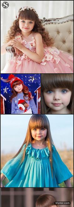 "Meet Beautiful Anastasiya Knayazeva Also Known As ""World's Most Beautiful Kid"" # AnastasiyaKnayazeva #MostBeautifulKid #beautiful #slydor"