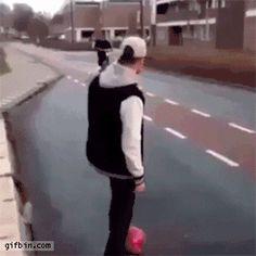 hilarious football kick
