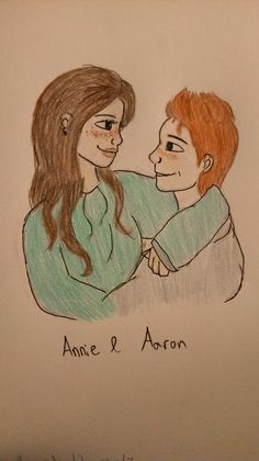 Just a little drawing, my friend really loved it<<< yeah, it's true beauty, Annie+Aaron= happiness.