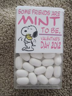 So doing these for Syd!! If she  agrees Recovered Tic Tacs. cute. Valentine's day idea :)