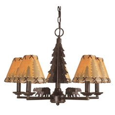 Bel Air Lighting�5 -Light Lodge Decor Oil-Rubbed Bronze Chandelier