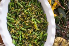 green beans with leeks and dill | vegetarian thanksgiving | Inspired to Share