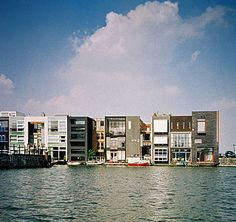 N. John Habraken - Well-known participation project, free choice of style and architect: Scheepstimmermanstraat Amsterdam, urban plan and coordination West 8, houses by different architects, 1996-1997
