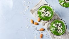 Food and drink healthy lifestyle diet and nutrition concept. Green smoothie wi Food and drink health Smoothie Legume, Matcha Smoothie, Green Detox Smoothie, Some Recipe, Protein Shakes, Diet And Nutrition, Healthy Drinks, Healthy Recipes, Health And Wellness
