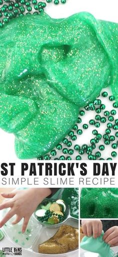 I've read that everyone's Irish on St. Patrick's Day, so we show show our lucky side with awesome homemade slime for preschool-age children and older.
