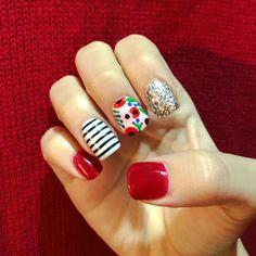 101 cute nail art designs for short nails 2019 page 30 Cute Nail Art Designs, Short Nail Designs, Red Nail Art, Red Nails, Red Summer Nails, Cute Spring Nails, Shellac Nails, Acrylic Nails, Acrylic Art
