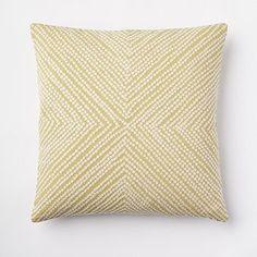 Diamond Dot Crewel Pillow Cover - Leek #westelm