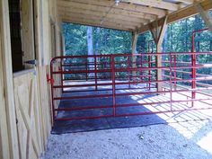 Gates to be used as temporary stalls- install with horse safe latches. when opened, they swing back to create an open aisle.