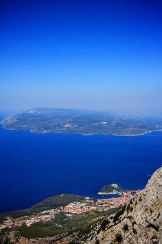 Widok na wyspę Brač i Makarską z masywu Biokovo || http://crolove.pl/25-zdjec-ktore-sprawia-ze-zakochasz-sie-w-chorwacji/ || #Chorwacja #Croatia #Hrvatska #Kroatien #Photos