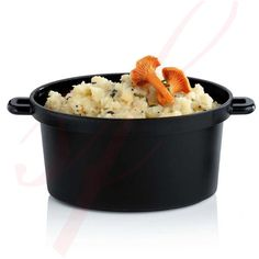 Re-usable Black Mini Cooking Pot 2 oz. Microwave safe by Sweet Flavor