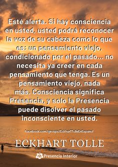 Frases / Citas de Eckhart Tolle En Español Eckhart Tolle, Facebook Sign Up, Spirituality, Thoughts, The Voice, Authors, Quotes, Health