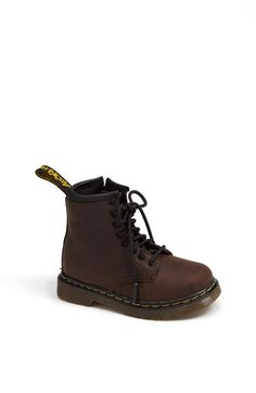 Free shipping and returns on Dr. Martens 'Brooklee' Boot (Baby, Walker, Toddler & Little Kid) at Nordstrom.com. A kid-friendly version of a favorite Dr. Martens boot sports a convenient side zipper for quick and easy on/off.