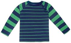 JoJo Maman Bebe Baby Boys Raglan Top ForestNavy Stripe 18 24 Months * Find out more about the great product at the image link.