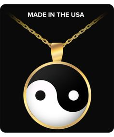 Yin and Yang Pendant Necklace, Gold/Silver Plated - Susu Collection