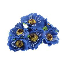 40 5 cornflower branches artificial flowers silk bluebottle bouquet dark blue artificial flower 60 head fake sunflower outdoor garden decor mightylinksfo