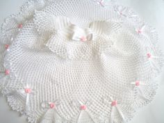 Crocheted Christening Dress baby shower gift door SvitlanaSky