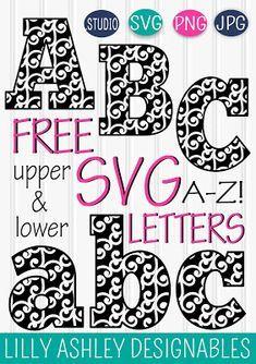 free ivy floral alphabet svg files