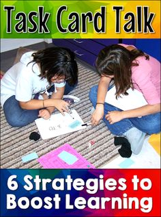 Corkboard Connections: Task Card Talk: 6 Strategies to Boost Learning