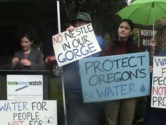 stop nestle bottled water - putting Oregon water into plastic bottles to benefit Nestle is no deal for Oregonians. Water Branding, Our Planet, Plastic Bottles, Oregon, Water Bottle, Politicians, Enchanted, Benefit