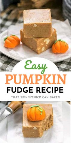 Easy Pumpkin Fudge - A simple, homemade fall candy! This pumpkin fudge recipe is an adaptation of my no-fail holiday fudge using pumpkin puree, spices, brown sugar, and white chocolate chips! This seasonal fudge has the same delicious autumn spiced flavors generally reserved for Thanksgiving. Pumpkin Fudge Recipe Easy, Fudge Recipes, Pumpkin Recipes, Healthy Desserts For Kids, Quick Easy Desserts, Healthy Dessert Recipes, Chocolate Chips, White Chocolate, Cooking