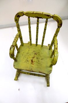 Shabby Chic Vintage Child Rocking Chair