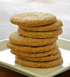 Make your own delicious vegan digestive biscuits. Crunchy, crumbly & not too sweet, they make the perfect accompaniment to a cup of tea!