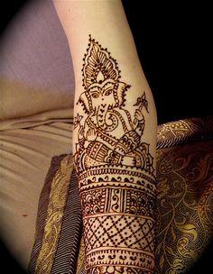 Ganesh henna tattoo elephants