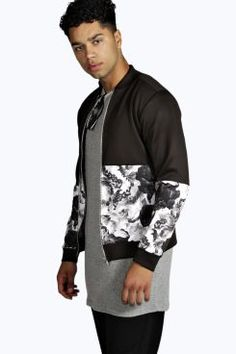 Bundle up in boohoo's coats and jackets for men. From men's leather jackets to men's long coats and trenches, we've got styles perfect for chilly winter days. Fresh Prince, Mens Sale, Scotch, Boohoo, Fashion Ideas, Floral Prints, Bomber Jacket, Tropical, Stylists