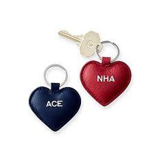 Leather Heart Key Fob