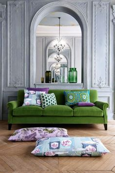 love this sofa against the wall