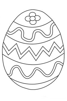 Easter Egg Printable Coloring Pages For Kids