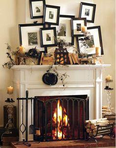 Si tienes chimenea es el complemento perfecto en Halloween.¡Decórala! @Latorredecora