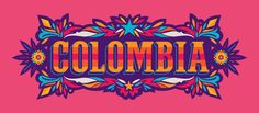 Typozon › Colombia Brand Identity Design, Logo Design, Graphic Design, South American Music, Chicano Art, Photoshop Design, Pebble Art, Cover Design, The Dreamers