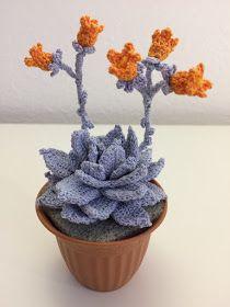 How to crochet a Echeveria Crochet Puff Flower, Crochet Cactus, Knitted Flowers, Crochet Flower Patterns, Crochet Art, Crochet Toys Patterns, Love Crochet, Amigurumi Patterns, Crochet Stitches