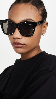 Quay Rhinstone After Hours Sunglasses Quay Sunglasses, Oversized Sunglasses, Sunnies, Free Thinker, After Hours, Face Shapes, Black Silver, Glamour, Stuff To Buy